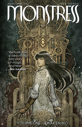 Review: Monstress Volume 1 by Marjorie M. Lou & illustrated by Sana Takeda